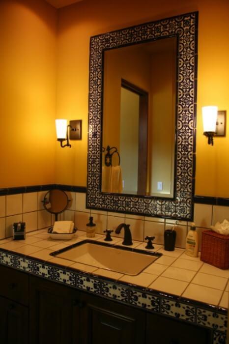 Classic 15 talavera tile bathroom