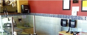 Commercial Restaurant wall Mexican Talavera tile
