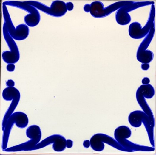 Classic 13 Design 6″ Poblana Talavera Tile – Traditional Clay Body