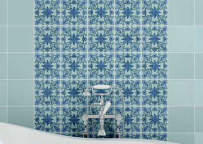 Samara Aqua with Celadon Field Tile