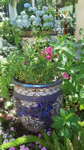 Mosaic Tile Flower Pot