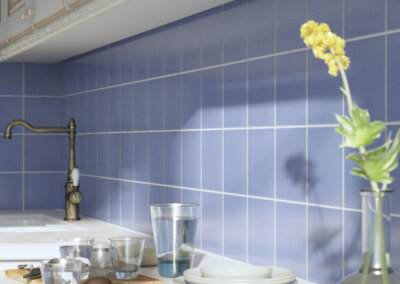 Aqua Porcelain Tile kitchen