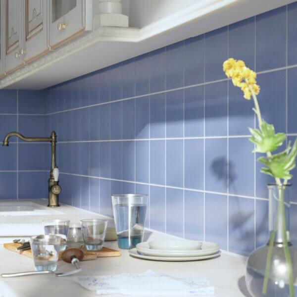 Aqua Porcelain Tile kitchen