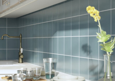 Marina Blue Tile Kitchen