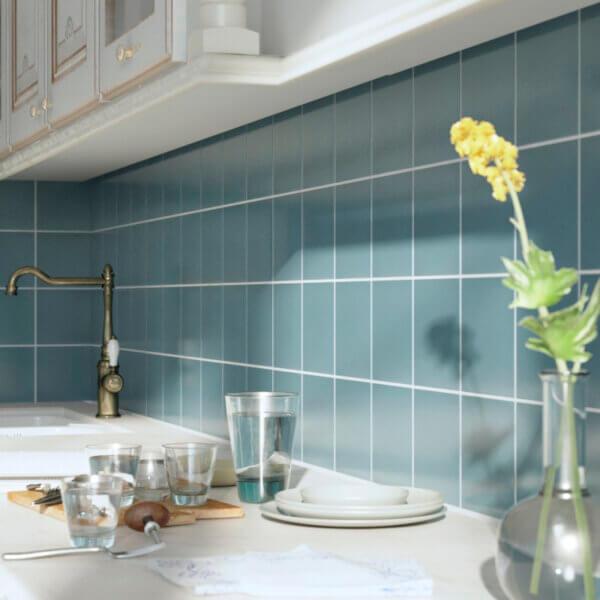 Marina Blue Tile Kitchen
