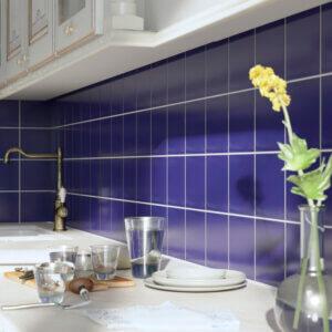 "Blue Porcelain 5 3/4"" kitchen"