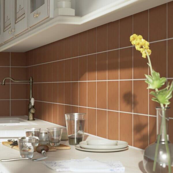 Terra Cotta Solid Color Kitchen