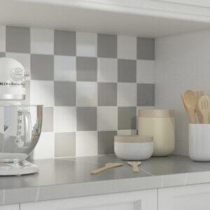 White & Gray Porcelain