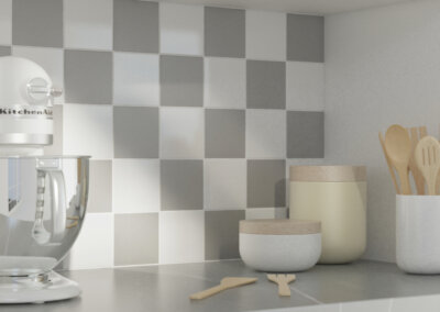 White & Gray Porcelain